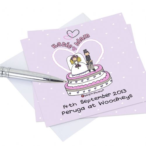Personalised Bang on the Door Wedding Invitations 20 Pack